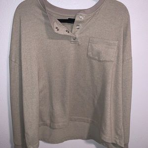 URBAN OUTFITTERS OLIVE LS TOP